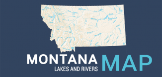 Montana Lakes Rivers Map Feature