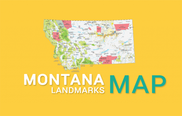 Montana State Map – Places and Landmarks