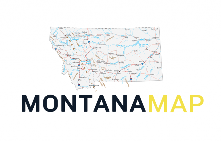 Map of Montana – Cities and Roads