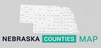 Nebraska County Map Feature