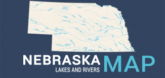 Nebraska Lakes Rivers Map Feature