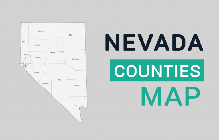 Nevada County Map and Independent City