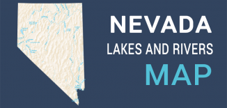 Nevada Lakes Rivers Map Feature