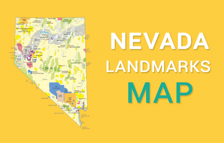 Nevada State Map – Places and Landmarks