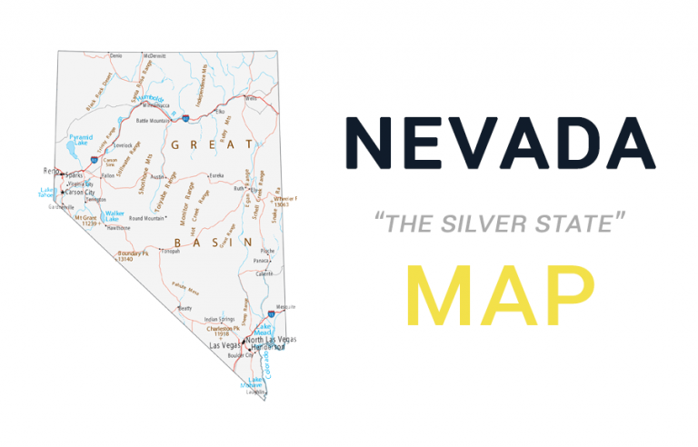 Map of Nevada – Cities and Roads
