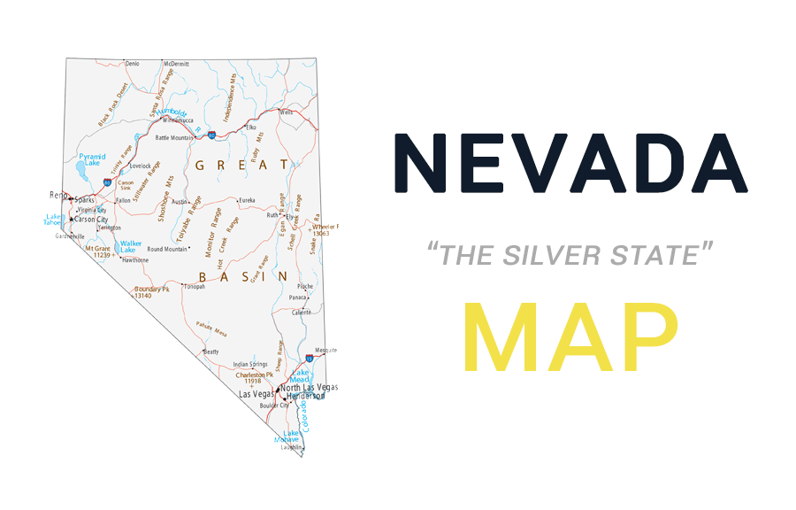 Map Of Nevada Cities And Roads Gis Geography