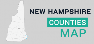 New Hampshire County Map Feature