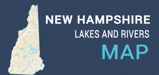 New Hampshire Lakes Rivers Map Feature