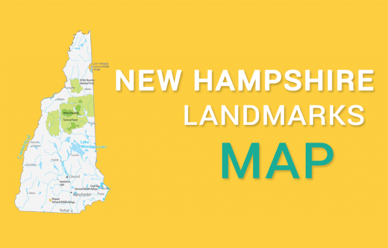 New Hampshire State Map – Places and Landmarks
