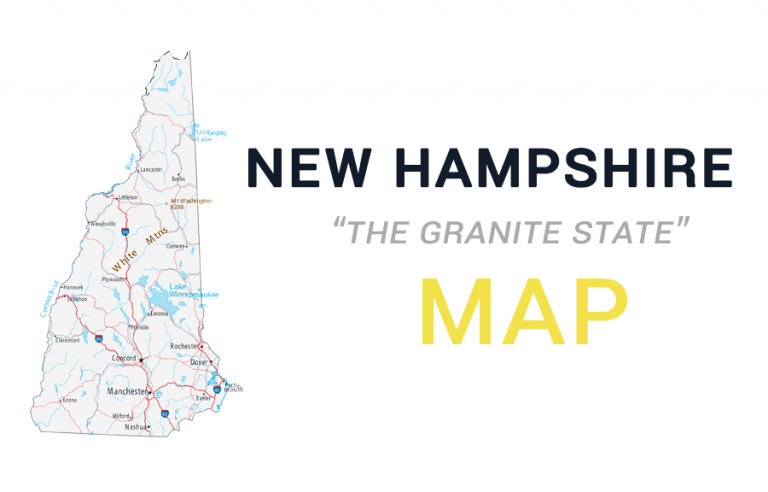 Map of New Hampshire – Cities and Roads