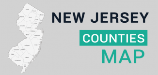 New Jersey County Map Feature
