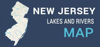 New Jersey Lakes Rivers Map Feature