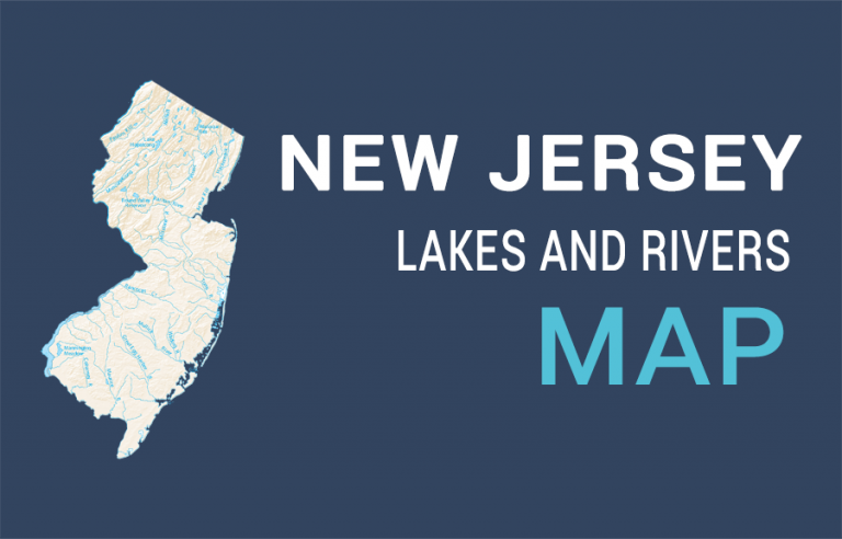 New Jersey Lakes and Rivers Map