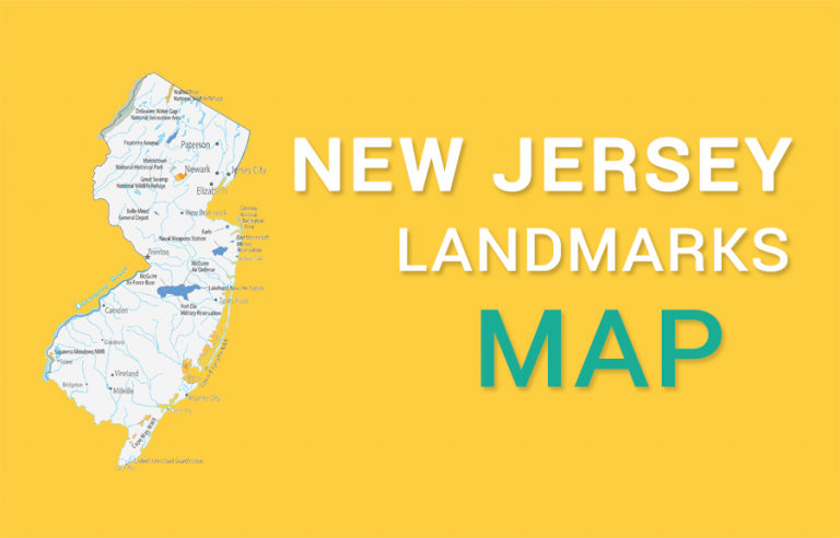 New Jersey State Map – Places and Landmarks