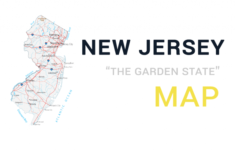 Map of New Jersey – Cities and Roads