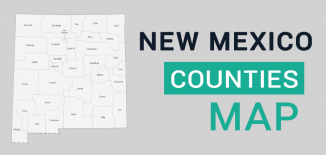 New Mexico County Map Feature