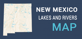 New Mexico Lakes Rivers Map Feature