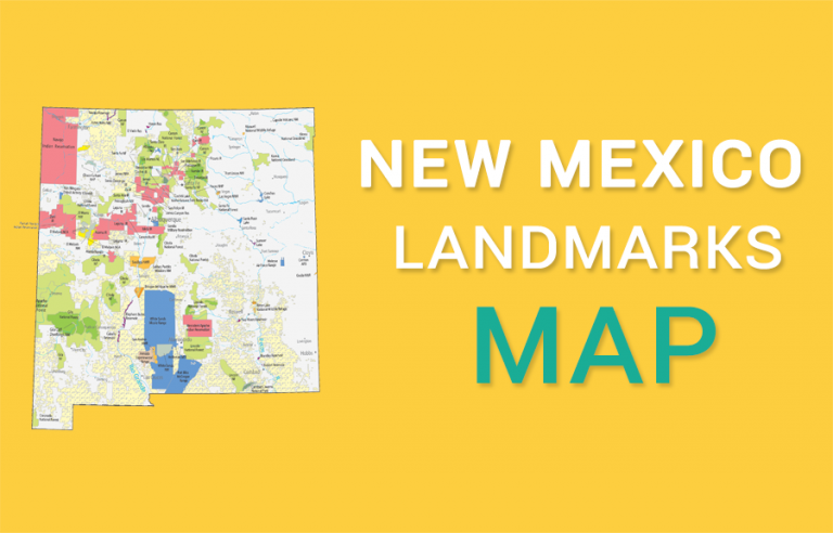 New Mexico State Map – Places and Landmarks