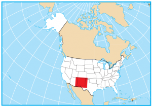 New Mexico Map Extent