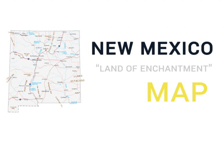 New Mexico Map – Cities and Roads