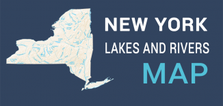 New York Lakes Rivers Map Feature