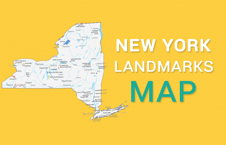New York State Map – Places and Landmarks