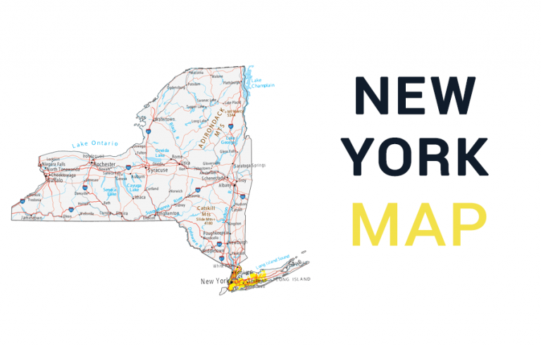 Map of New York – Cities and Roads