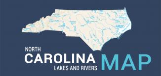 North Carolina Lakes Rivers Map Feature