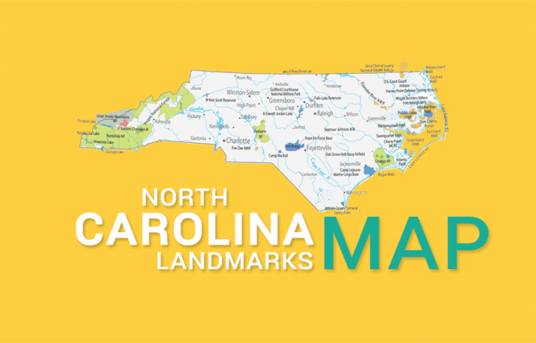 North Carolina State Map – Places and Landmarks