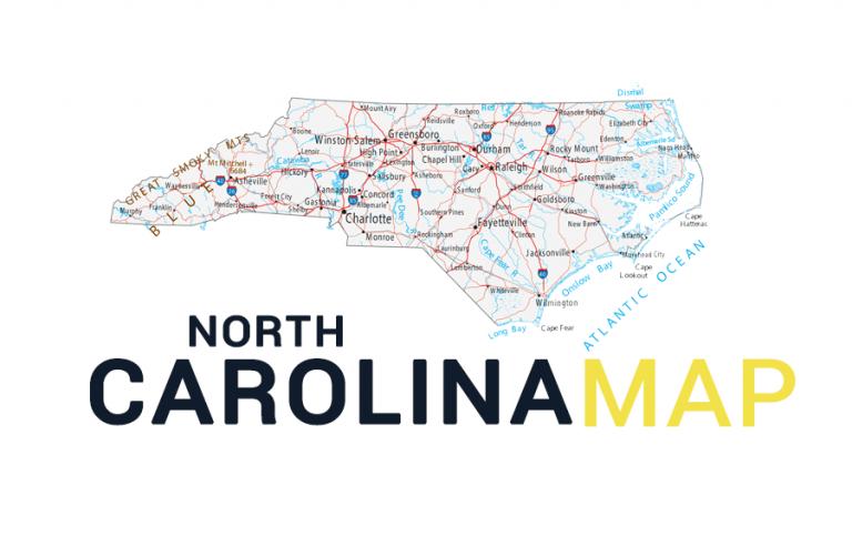 North Carolina Map – Cities and Roads