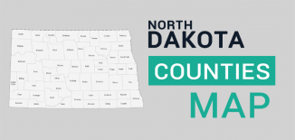 North Dakota County Map Feature