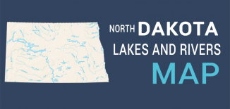 North Dakota Lakes Rivers Map Feature