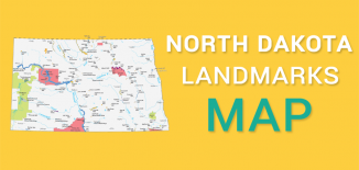 North Dakota Landmarks Map Feature