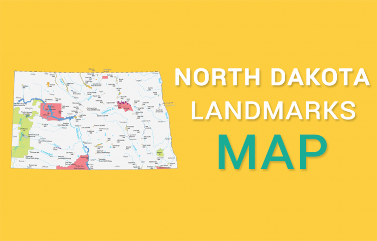 North Dakota State Map – Places and Landmarks