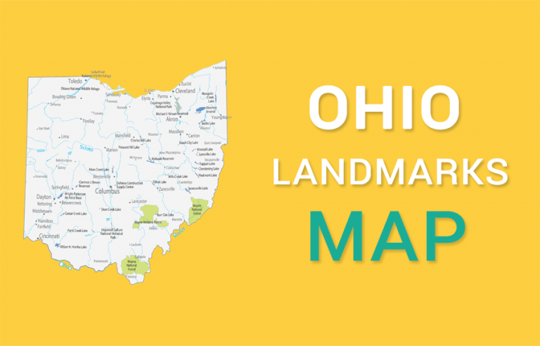 Ohio State Map – Places and Landmarks