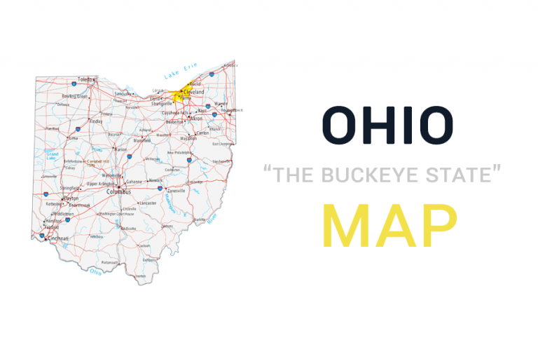 Map of Ohio – Cities and Roads