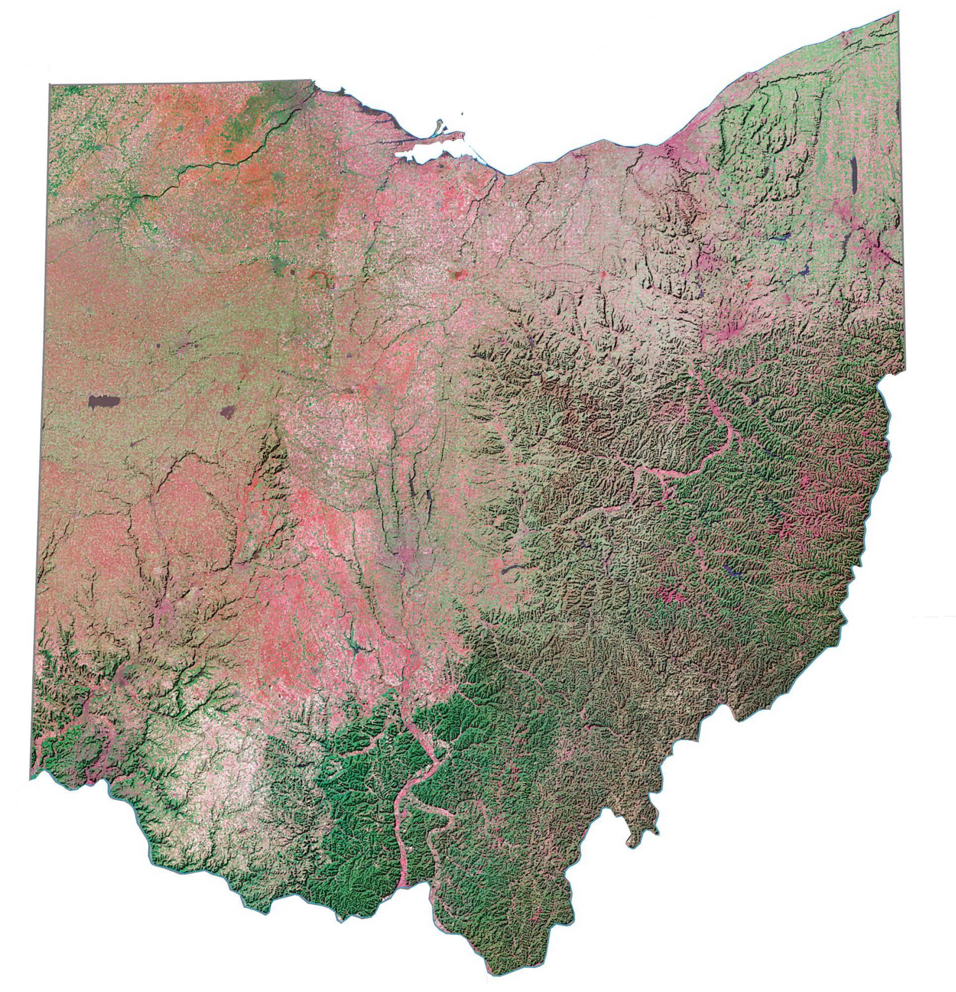 Image of: Map Of Ohio Cities And Roads Gis Geography