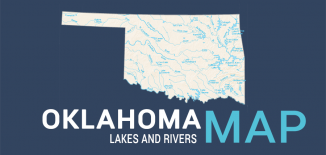 Oklahoma Lakes Rivers Map Feature