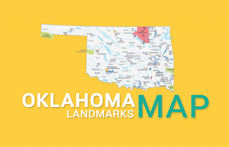Oklahoma State Map – Places and Landmarks
