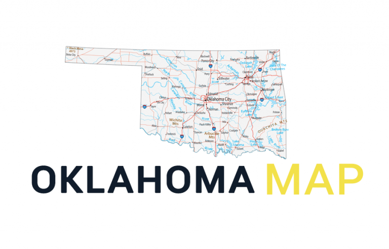 Map of Oklahoma – Cities and Roads