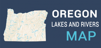 Oregon Lakes Rivers Map Feature