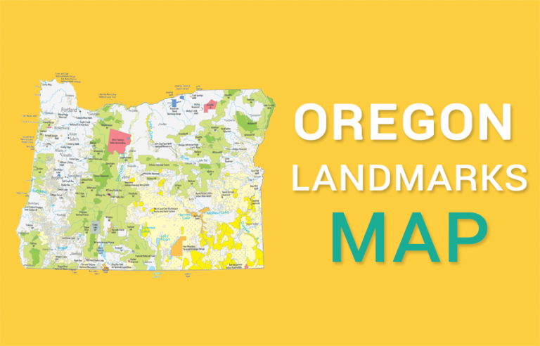 Oregon State Map – Places and Landmarks