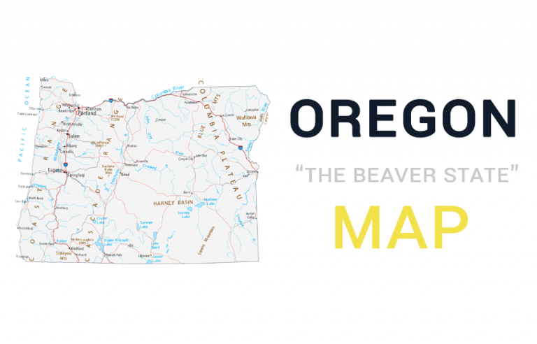 Map of Oregon – Cities and Roads
