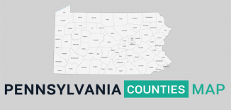 Pennsylvania County Map Feature
