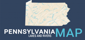 Pennsylvania Lakes Rivers Map Feature