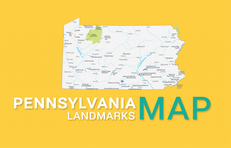 Pennsylvania State Map – Places and Landmarks