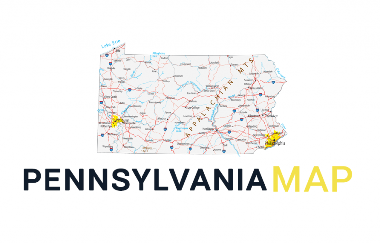 Map of Pennsylvania – Cities and Roads