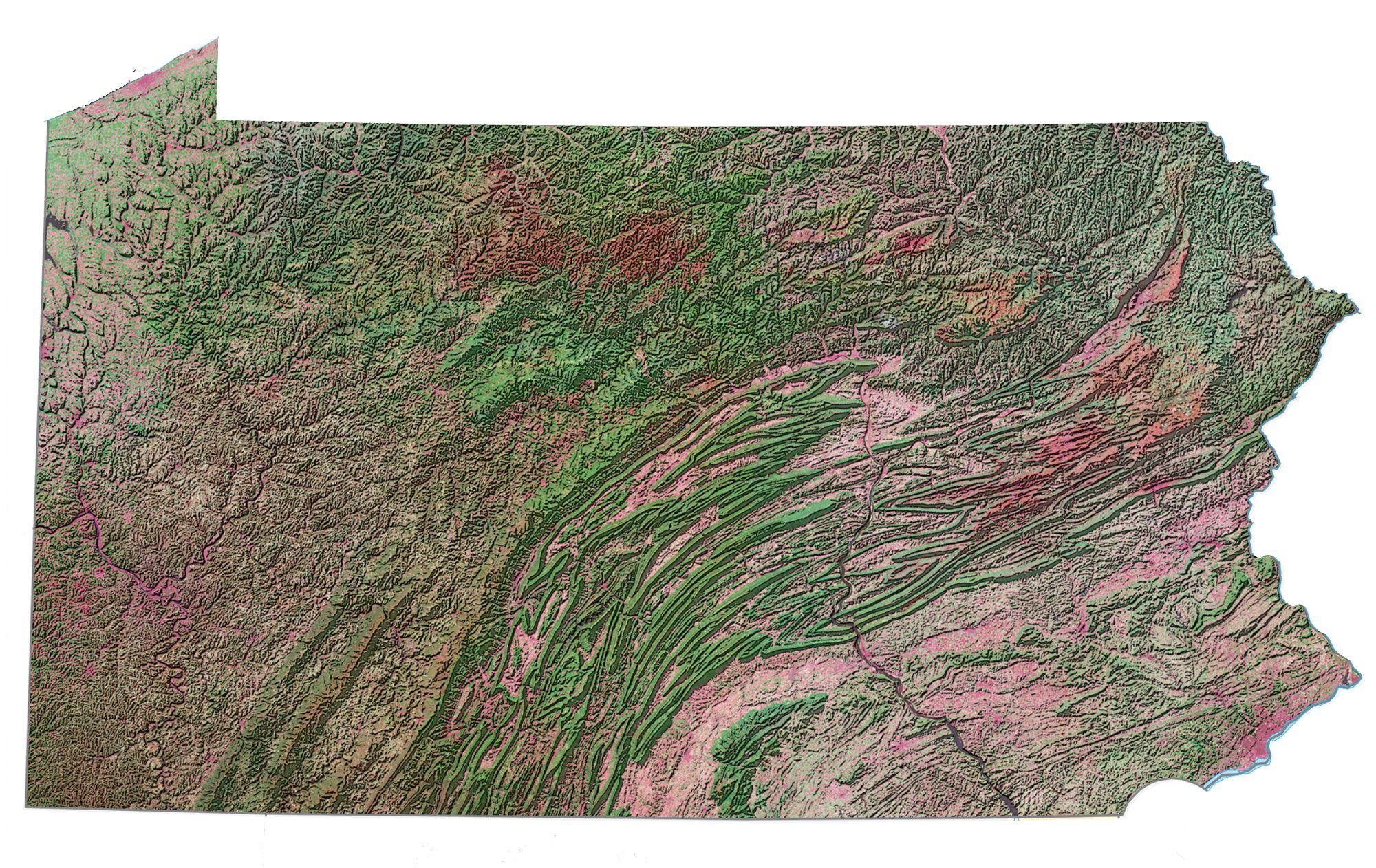 Picture of: Map Of Pennsylvania Cities And Roads Gis Geography