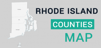 Rhode Island County Map Feature
