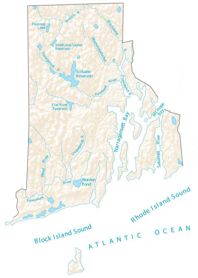Rhode Island County Map